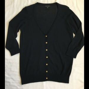 The Limited Cotton Black Cardigan Sweater Large L